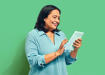 Customer with iPad