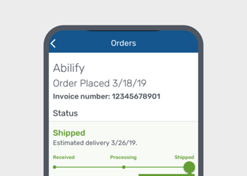 Mobile order screen