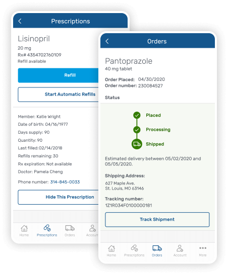Express Scripts mobile app features screens