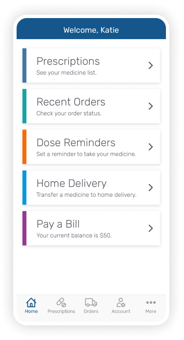 Express Scripts Mobile App Dashboard
