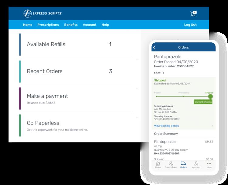 Manage prescriptions online